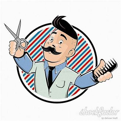 Cartoon Barber Drawing Shockfactor Comic Hipster Gemerkt