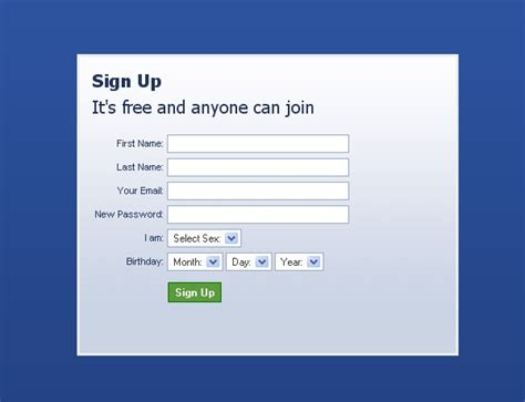facebook registration form creating a facebook like registration form with jquery
