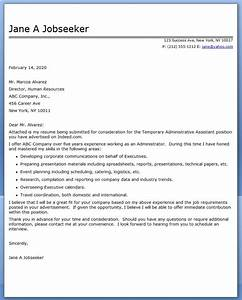Administrative assistant cover letter temp resume for Executive assistant cover letter 2014
