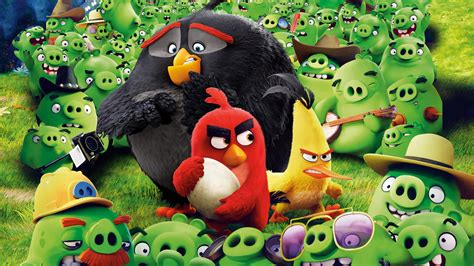 wallpaper angry birds red chuck bomb  movies