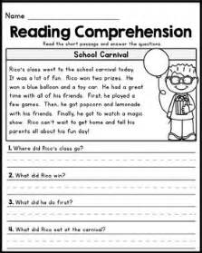free reading comprehensions 25 best ideas about grade reading comprehension on comprehension for grade 1
