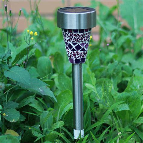 buy solar power mosaic led garden light solar energy