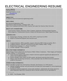 resume templates for electrical engineers sle engineer resume 9 exles in word pdf