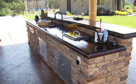 how to make an outdoor concrete countertop outdoor kitchen concrete countertop custom image hardscape
