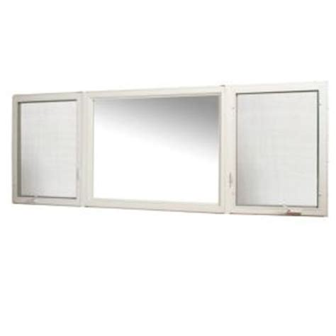 tafco windows      vinyl casement window  screen white vcc rl  home