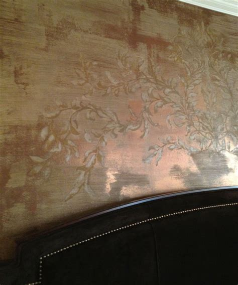 metallic bronze faux paint on wall faux painting idea 2 modern masters metallic plaster and bronze with a custom