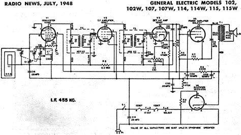 General Electric Wiring Schematic by General Electric Radio Schematics Posted On Am General