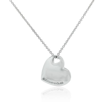 Tiffany & Co Sterling Silver Heart Pendant Necklace