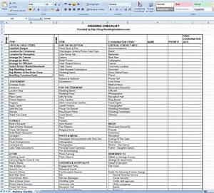 Wedding Planner  Wedding Planning Checklist Excel