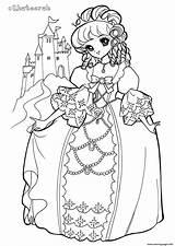 Coloring Glitter Force Colouring Printable Princess Kingdom Popular Khateerah sketch template