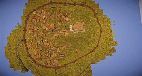 edoras capital  rohan minecraft building