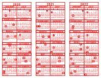 Microsoft Calanders 2020 2021 2022 3 Year Calendar