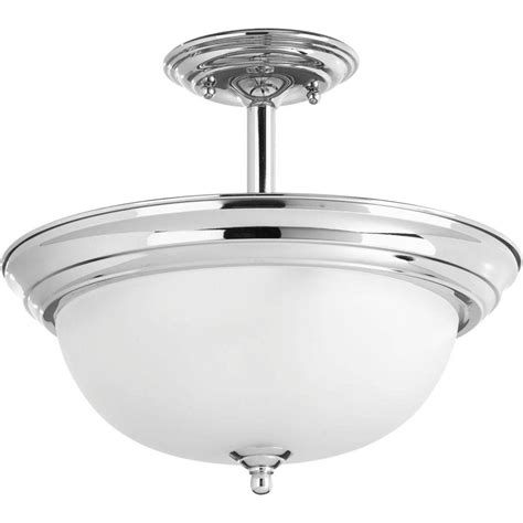 chrome flush mount ceiling light progress lighting dome glass collection 2 light polished