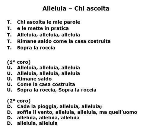 canzoni della chiesa testi elenco canzoni 171 parrocchia di san lorenzo da brindisi
