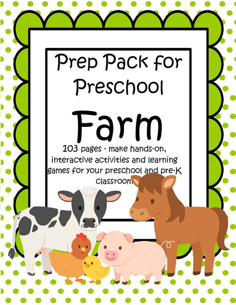 farm animals prep pack for preschool 103 pages kidsparkz 700 | s502260936815463319 p37 i6 w1700