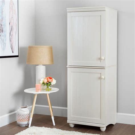 narrow storage cabinet south shore hopedale white wash 2 door narrow storage