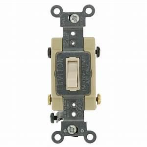 Leviton 15 Amp Single-pole Toggle Framed 4-way Ac Switch  Light Almond-r56-54504-2ts