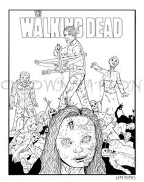 walking dead coloring pages  print  walking deads