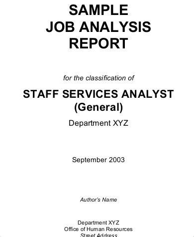 sample job analysis templates  ms word