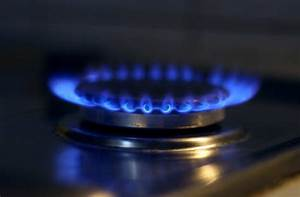 Natural gas the gas is burning on the stove service № 38482