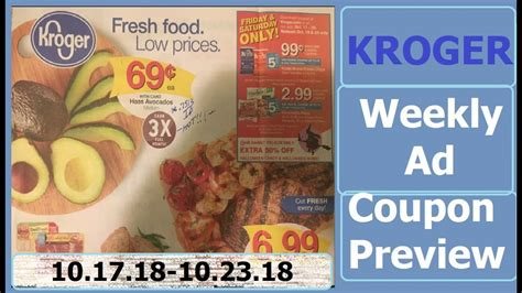 Kroger Weekly Ad Couponing Preview- 10/17/18-10/23/18