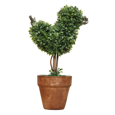 Plastic Garden Grass Ball Topiary Tree Pot Dried Plant for