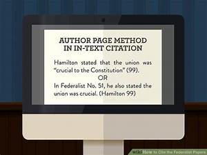Example Of A Title Page Apa 4 Ways To Cite The Federalist Papers Wikihow
