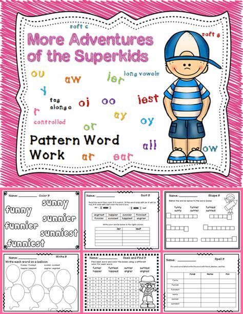 spelling pattern word worksheets part 2 super kids kids reading grade spelling 2nd grade