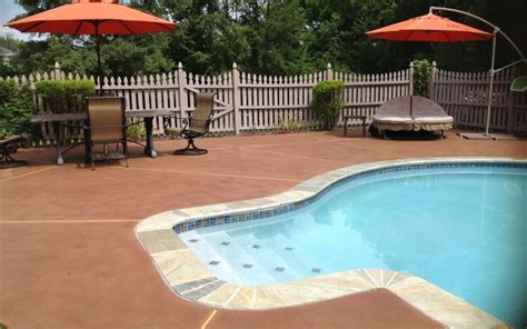 pool deck colors  concrete deck design  ideas