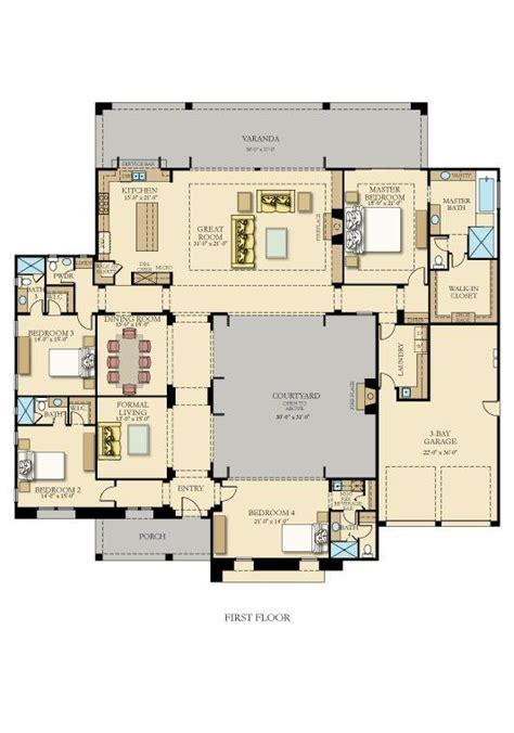 best 20 courtyard house plans ideas on