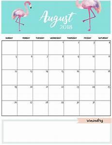 Calender August Printable Monthly Calendar Cute Printable Calendar 2019 2020