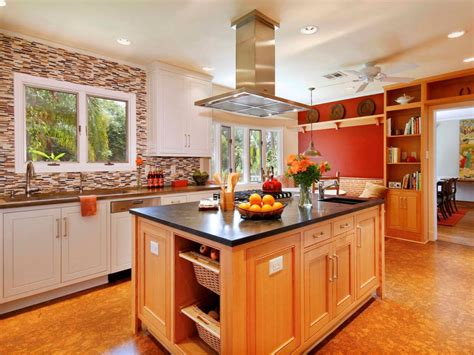 Cabinet Colors For Kitchen Walls With Oak Cabinets Red