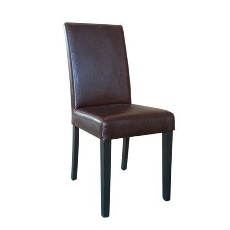 chaise cuir dossier haut chaise dossier haut en simili cuir bolero marron foncé