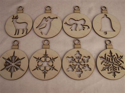christmas ornaments  piece setlaser cut outsunfinished