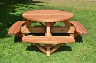 Round Picnic Table With Attached Benches round pub bench plans download wood plans