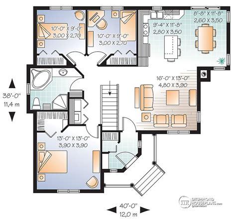 3 bed bungalow floor plans beautiful 3 bedroom bungalow with open floor plan by