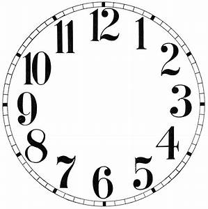 11 Clock Face Images - Print Your Own