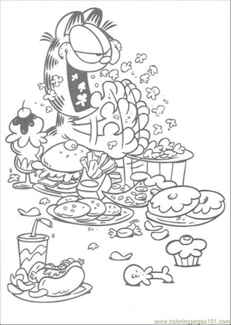Kleurplaat Spaghetti Eten by Eat And Eat And Eat Coloring Page Free Garfield Coloring