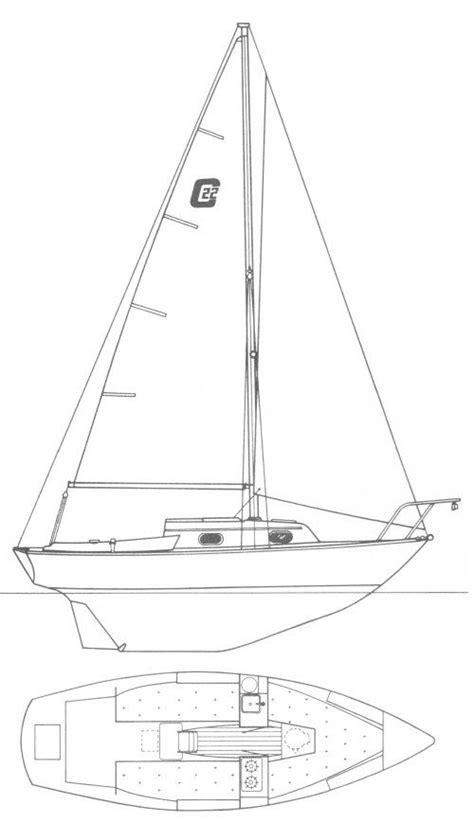 Dory Boat Drawing by Cape Dory 22 Drawing On Sailboatdata Sailboats 22