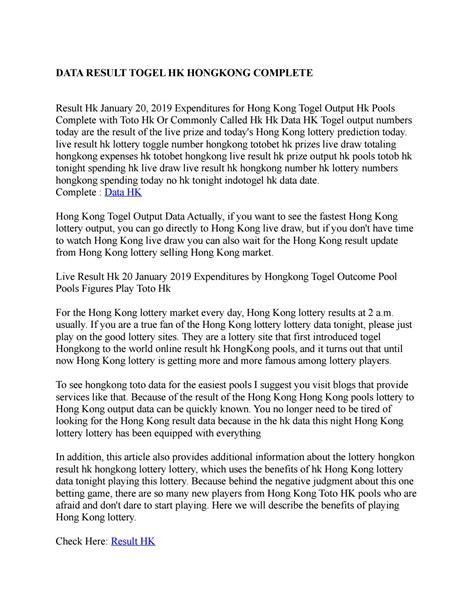 data result togel hk hongkong complete  naylasabita issuu