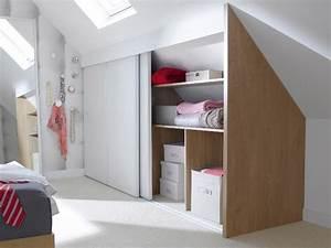 Commode Sous Pente : une chambre mansard e transform e en dressing 2 chambre ~ Edinachiropracticcenter.com Idées de Décoration