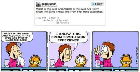 jaden smith tweets work remarkably   garfield comics