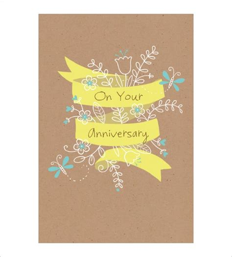 anniversary card template   sample