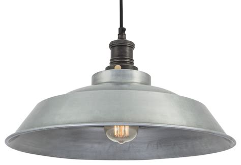 Brooklyn Vintage Step Metal Lamp shade   Dark Grey Pewter   16 inch   Industrial   Pendant