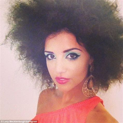 Exclusive Return Of The Fro Lucy Mecklenburgh Shows Off Her Svelte Frame And Voluminous Hair