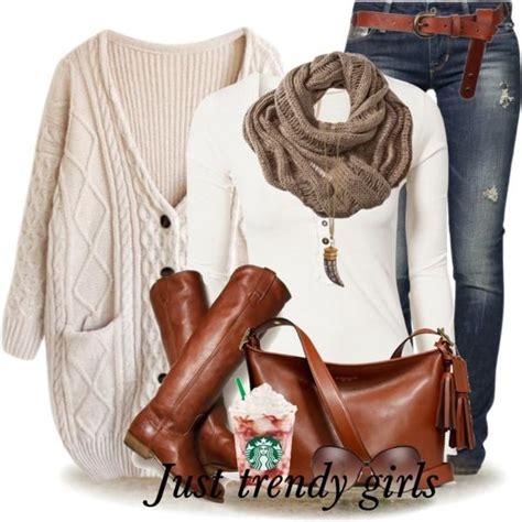 Winter outfits in cognac boots u2013 Just Trendy Girls