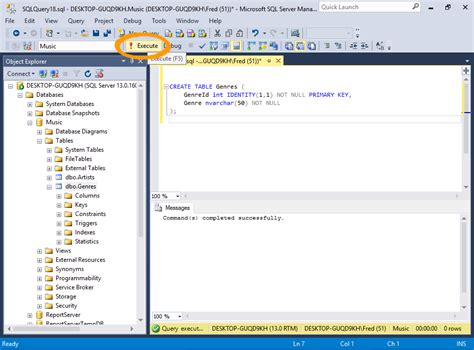 sql server show tables sql server 2016 create a table from an sql script