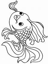 Coloring Pages Goldfish Fish Print Printable Recommended Goldfishes Bright Mycoloring sketch template