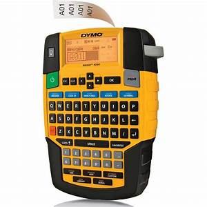 dymo rhino industrial 4200 compact time saving label maker With label maker large letters