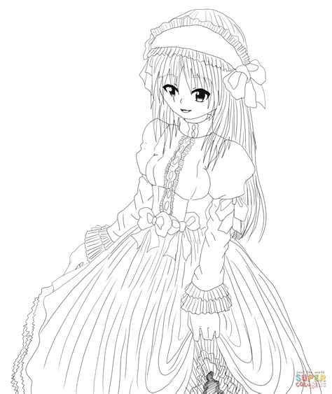 Anime Kleurplaat by Anime Character By Gabriela Gogonea Coloring Page